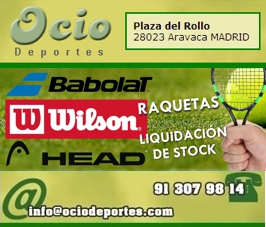 Liquidación raquetas tenis