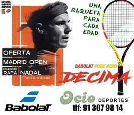 Oferta raqueta aero drive Decima Rafa Nadal